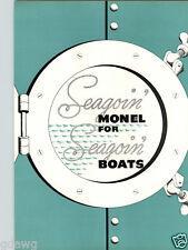 1940 PAPER AD 8 PG Monel My Sin Hydroplane Motor Boat Race Sailboat Vesta