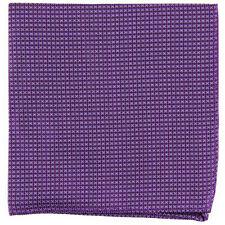 New Men's poly Pocket Square Hankie Handkerchief purple checkers formal