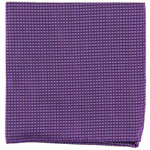 New Men's poly Pocket Square Hankie Handkerchief purple checkers formal