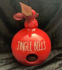 "Rae Dunn ""JINGLE BELLS"" Red Birdhouse New VHTF"