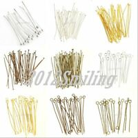 100pcs silver plated jewelry findings bent head pin For DIY 70mm