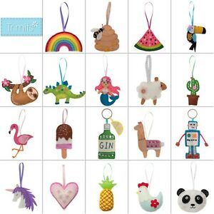 Trimits Felt Sewing Craft Kit Hanging Decoration Children Kids Adults Beginners