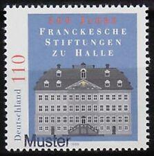 Specimen, Germany Sc2018 Francke Charitable Institutions 300th Anniversary.