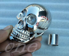 SOLID BRASS SILVER SKULL HEAD HANDLE DESIGN FOR WALKING STICK CANES handmade