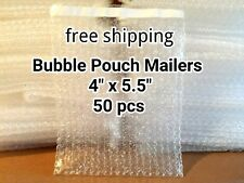 50x 4 X 55 Bubble Out Bags Pouches Self Seal Mailers Bags Wrap Clear