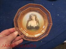 """SCHUMANN GERMANY 7"""" PORTRAIT PLATE RETICULATED BORDER LADY WOMAN GIRL # 3"""