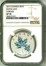 2013 S$10 Canada Maple Leaf Forever NGC SP70 NGC Pop = 1 With Mint Box & COA OGP