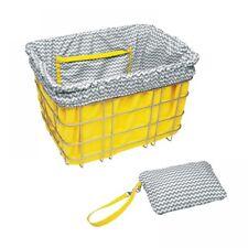 Electra Baskit Liner Yellow/Grey Zig Zag Inlay Fahrradkorb, Wende Tasche Beute
