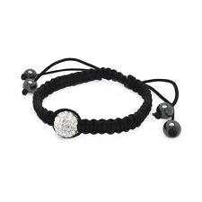 Clear CZ Steel Beads Shambhala Bracelet With CZ SBB00051