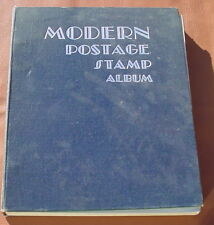 Vintage 1952 MODERN POSTAGE STAMP ALBUM BY Scott Publications,Inc NY