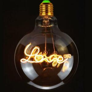 4W Love Bulb E27 Cap Filament LED DOWN 220V