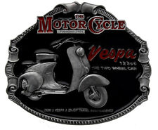 VESPA Classic SCOOTER Licensed Belt Buckle In a Gift Box + Display Stand.