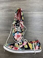 Vans Classic Slip On Shoes Floral Hawaiian Women's 8.5 Flowers