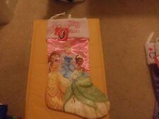 "Girl'S Christmas Disney Stocking Princesses New 18"""