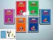 6 Decks Modiano Profi Plastik Texas Poker Karten 52er Blatt +3 Joker 6 Farben
