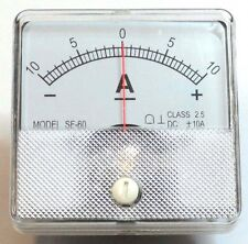 DC Analog Ammeter Panel Mount 10-0-10 PMA101-DC