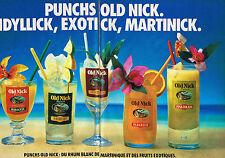 PUBLICITE ADVERTISING  1984   OLD  NICK  rhum de la Martinique (2 pages)