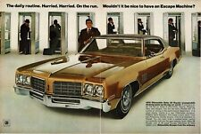 1970 OLDSMOBILE Delta 88 Gold 2-door Hardtop Centerfold VTG PRINT AD