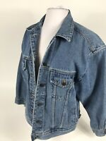 Eddie Bauer Women's Denim Jean Jacket Size S/P Stonewashed Classic Button Front