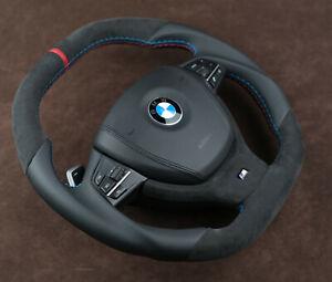 BMW custom steering wheel paddle F10 M5 M6 F01 F02 F07 flat bottom thick soft M