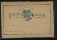 Portugal  Guine  postal card  cancelled  1891          MS1121