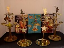 Lot 4 Vintage Christmas Avebe Swedish Angel Clown Horse Chimes Brass Candle Xmas