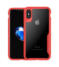 Ipaky Red HD Clear Case for New Apple Iphone X With Bumper Protection