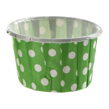 100 X Cupcake Wrapper Paper Cake Case Baking Cups Liner Muffin green