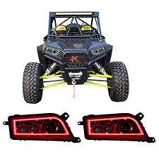 2x CREE LED RGB Headlight Multi-color Changing DRL For POLARIS RZR XP 900 ATV