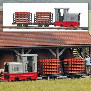 """Busch 12014 - 1/87 / H0 Feldbahn Start-Set """"Ziegeltransport"""" - Neu"""