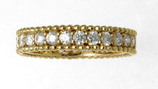 New Well Made 18K Yellow Gold & Diamond Eternity Band 1.10 Cts. Size 6.5