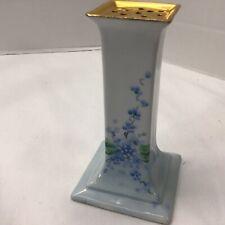 OEG Royal Austria Porcelain Hat Pin Holder Blue FLORAL Gold Stouffer handpainted