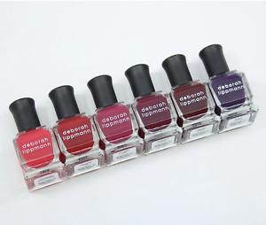 Deborah Lippmann VERY BERRY shades of berries Nail Polish Set of 6 MSRP$45