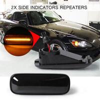 2x LED Dome Side Marker Light Fender Indicator For 96-00 HONDA Civic EK