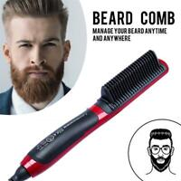 Men Quick Beard Straightener Multifunctional Hair Comb Curling Curler Show tools
