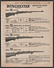 1962 WINCHESTER Model 70 Alaskan African Westerner Target Center Fire Rifle AD