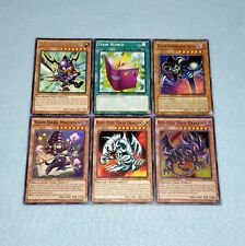 Yugioh Toon World Blue Eyes White Dragon Dark Magician Red Eyes Black 6 Card Set