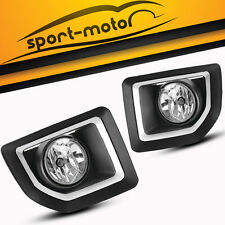 for 2015 2016 GMC Sierra 2500 HD Clear Fog Lights Lamps w/ Wiring Kit Left+Right