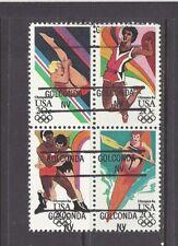 NEVADA Precancels: 20c 1984 Olympics Block of Four  (# 2085a)