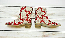 New listing Joyfolie Girls Size 4 Youth Wren Booties In Red Floral Vguc