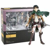 Anime Attack on Titan Ackerman Levi Figma 213 PVC Action Figure Model Toys