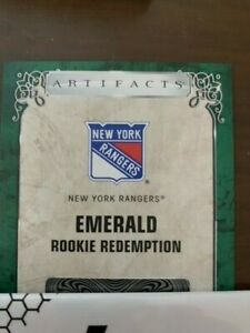 20-21 UPPER DECK ARTIFACTS EMERALD ROOKIE REDEMPTION #200 NEW YORK RANGERS /99