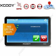 XGODY 5'' SAT NAV GPS Navigation Device Free 2D 3D UK EU Map Built-in Bluetooth