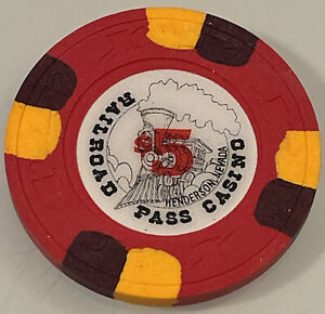 RAILROAD PASS $5 Casino Chip Henderson  Nevada 3.99 Shipping
