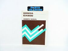 NOS Genuine Honda Owner's Manual EX800 Portable Generator 31ZA7000