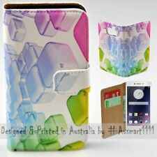 For OPPO Series - 3D Colour Cubes Theme Print Wallet Mobile Phone Case Cover