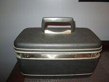 Vtg Samsonite SILHOUETTE  RECTANGULAR Luggage Suitcase Train case GRAY MAKEUP