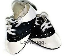 "Black Saddle Oxfords Shoes for 18"" American Girl Doll Clothes BEST SELECTION"