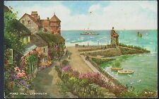 BAMFORTH ARTIST SIGNED TYPE POSTCARD MARS HILL LYNMOUTH C1960'S BRIAN GERALD