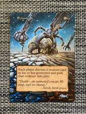 Exhume MTG Magic Urza's Saga Hand Painted Altered Borderless Extended Art <(((-<